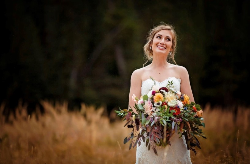 Remy with Bridal Bouquet