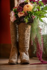 bouquet in a boot