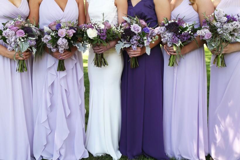 maid's & bride bouquets